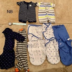 NB 0-3m baby boy clothes